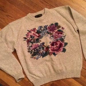Eddie Bauer wool sweater vintage size Large